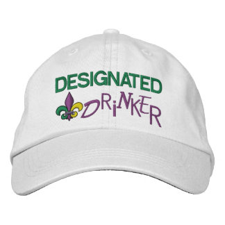 Designated Drinker - Mardi Gras Embroidered Baseball Cap