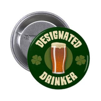 Designated Drinker Pinback Button