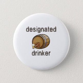 Designated Drinker Pinback Button