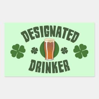 Designated Drinker Rectangular Sticker