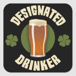 Designated Drinker Square Sticker