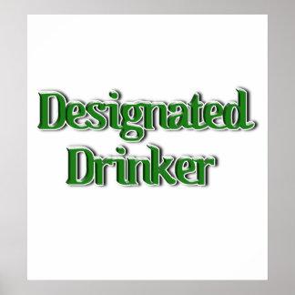 Designated Drinker Text Image Print