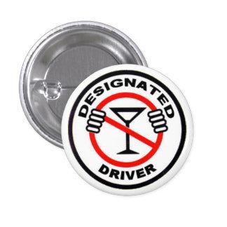 Designated Driver 1 Inch Round Button