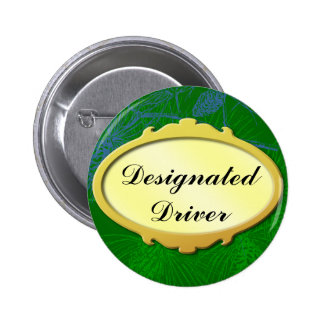 Designated Driver Gold Label Holiday Button