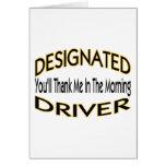 Designated Driver Greeting Cards
