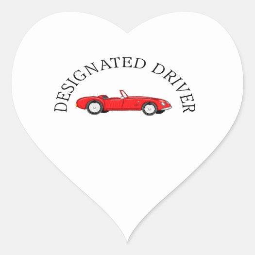 Designated Driver Heart Sticker