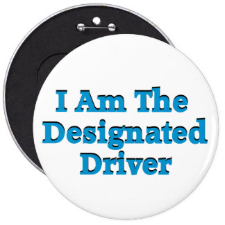 Designated Driver in Blue Button