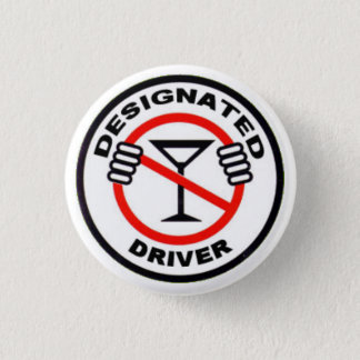 Designated Driver Pinback Button