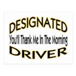 Designated Driver Post Cards