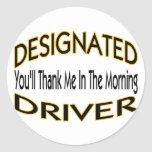 Designated Driver Round Sticker