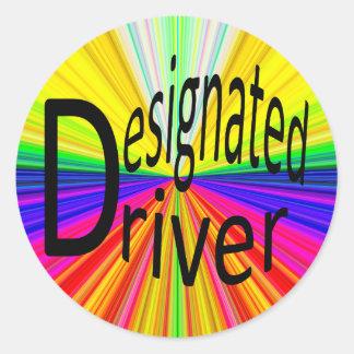 Designated Driver Classic Round Sticker