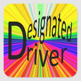 Designated Driver Square Sticker