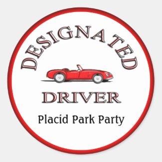 Designated Driver Stickers Personalized Stickers