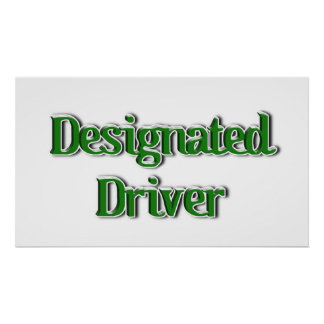 Designated Driver Text Image Posters