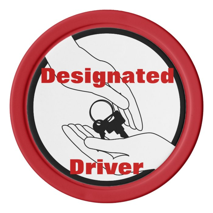 Designated Driver Tokens Set Of Poker Chips