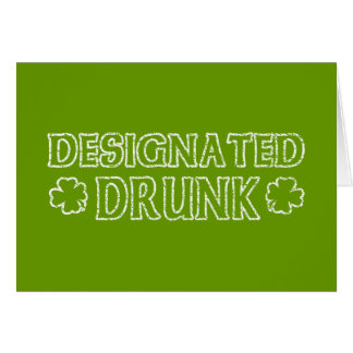 Designated Drunk Card