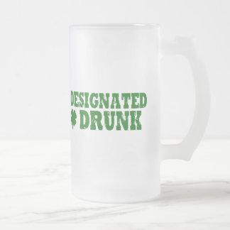 Designated Drunk Frosted Glass Beer Mug