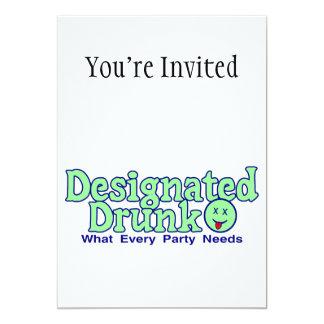 Designated Drunk 5x7 Paper Invitation Card