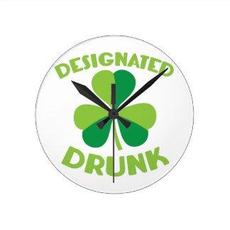 Designated DRUNK Round Clock