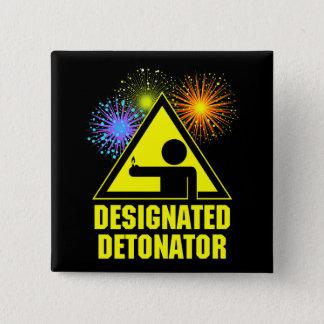 Designated Fireworks Display Detonator Pinback Button