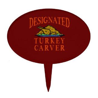 Designated Turkey Carver Thanksgiving Cake Topper