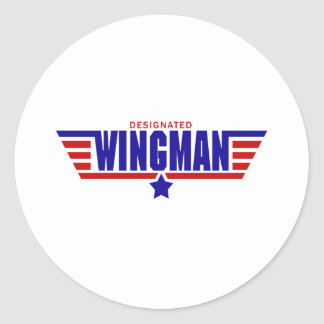 Designated Wingman Classic Round Sticker
