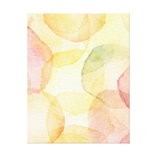 Designed abstract background with watercolor canvas print