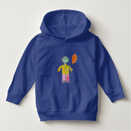 Designed by a Kid Boy with Balloon Pullover Hoodie