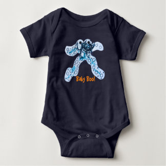 Designed by a Kid Halloween Boo Baby Bodysuit
