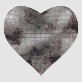 Designed Explosion #1 Heart Sticker