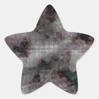 Designed Explosion #1 Star Sticker