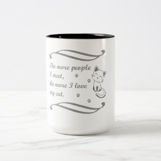 Designed For Cat Lovers Two-Tone Coffee Mug