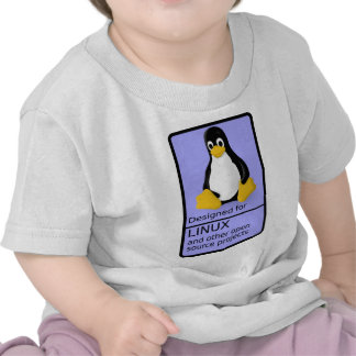Designed for Linux T-shirts
