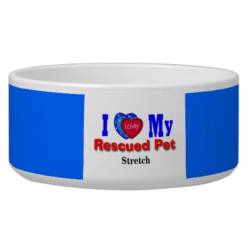 """""""Designed For My Cat Stretch"""" Happy To Share Dog Bowl"""