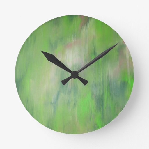 """Designed from the original painting """"Road Trip"""" Clocks"""