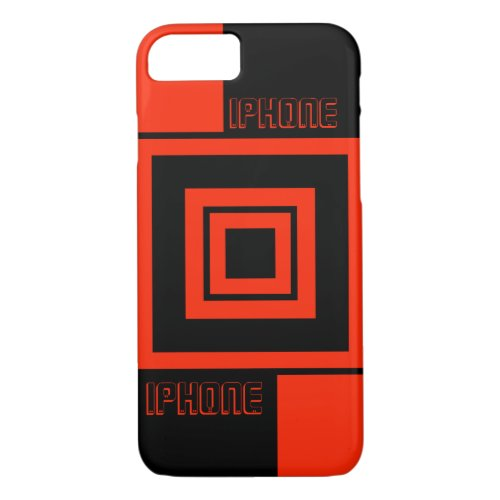 Designed in shades of red and black, cubes iPhone 8/7 case