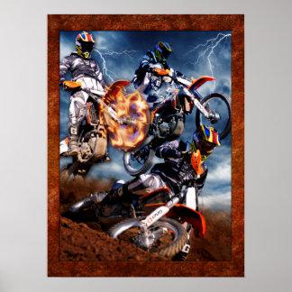 Designed motocross poster