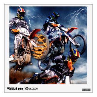 Designed motocross racing collage. room graphic