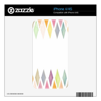Designed watercolor background skins for the iPhone 4