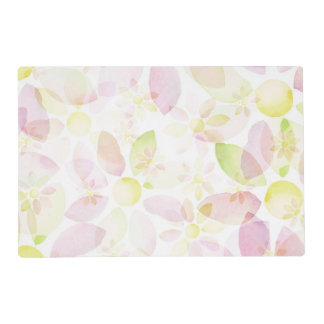 Designed watercolor flower background, texture placemat
