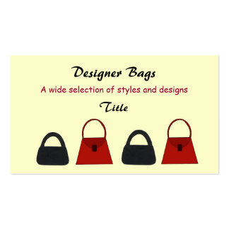 Designer Bags Business Business Card