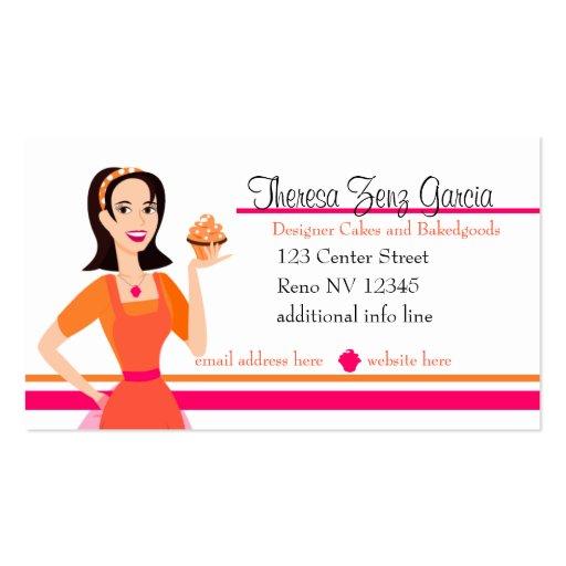Cake decorating business card templates bizcardstudio designer bakedgoods business cards reheart Images