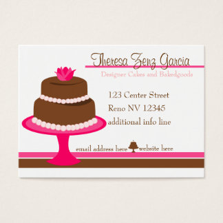 Designer Bakedgoods-Cake Business Card