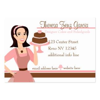 Designer Bakedgoods-Cake Business Card Templates