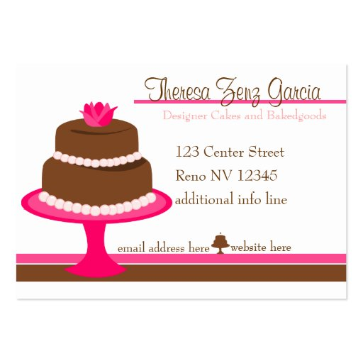 Designer Bakedgoods Cake Business Card Template