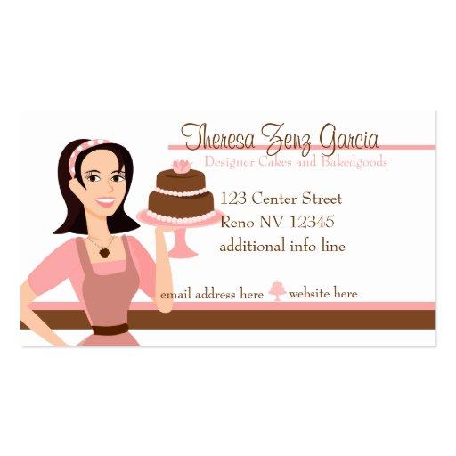 Designer Bakedgoods-Cake Business Card Template (front side)