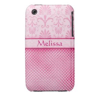 Designer Bling iPhone 3g/3gs Case:Pink iPhone 3 Covers