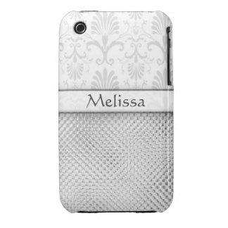 Designer Bling iPhone 3g/3gs Case:  Silver iPhone 3 Case-Mate Case
