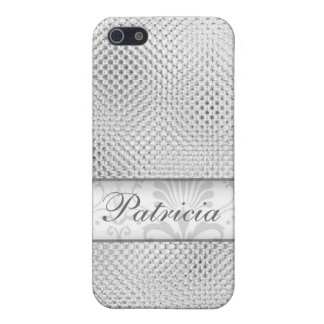 Designer Bling iPhone 4 cases:Silver iPhone SE/5/5s Cover