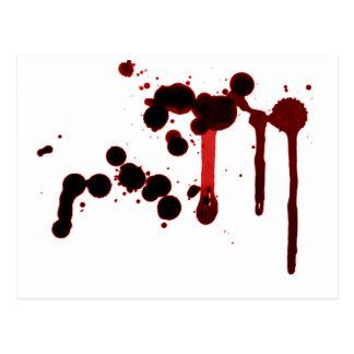 Designer Blood Splatter Postcard